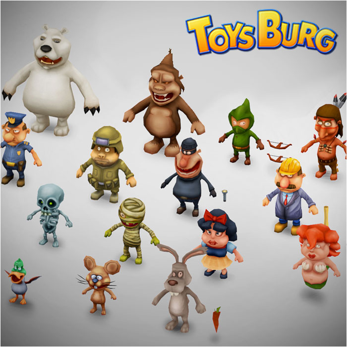 Toysburg – Low-poly models
