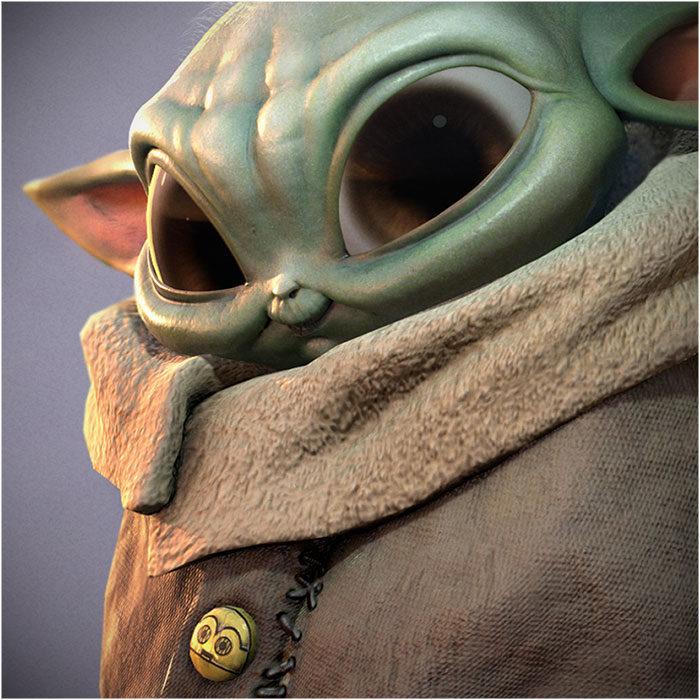 Baby Yoda: 3D Fan Art – Real-time